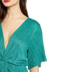 All in Favor Dolman Plissé Midi Dress